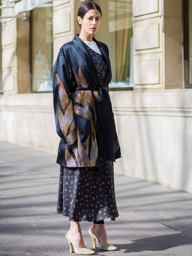 Silk Robe Street Style