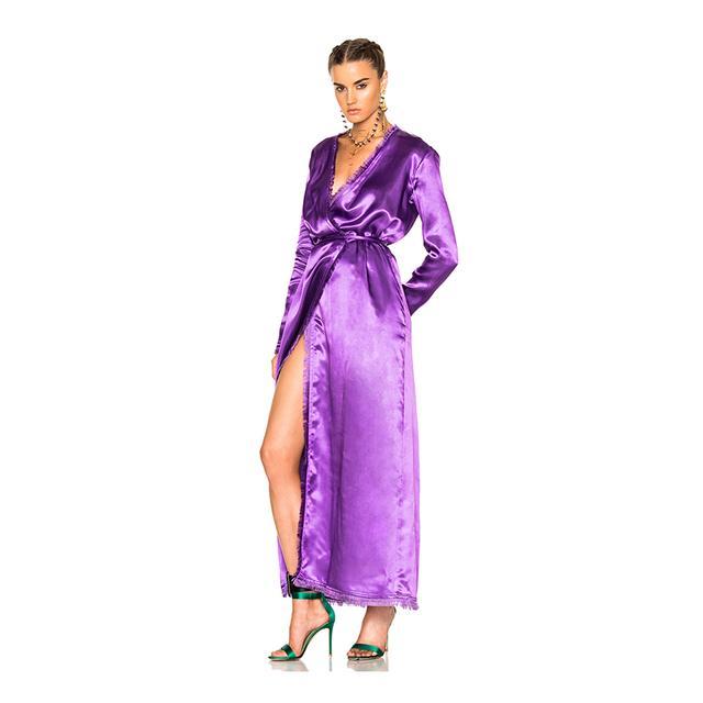 Attico Raquel Satin Dress