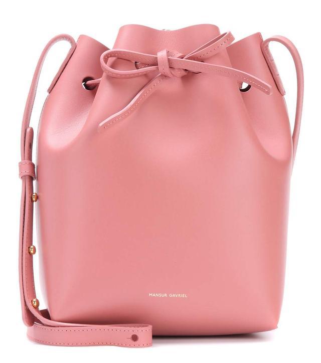 Mansur Gavriel Small Leather Bucket Bag