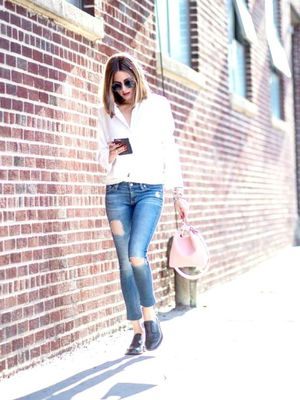 How to Do Millennial Pink Like Olivia Palermo