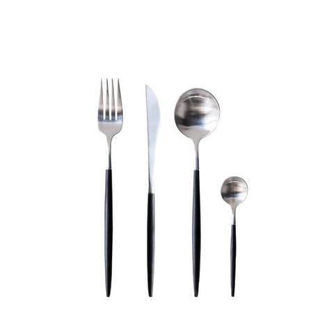 Stainless Steel Flatware Set in Black Pearl