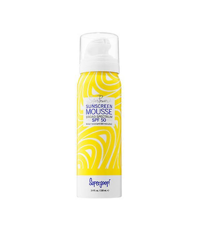 ! Super Power Sunscreen Mousse Broad Spectrum SPF 50 3.4 oz/ 100 mL