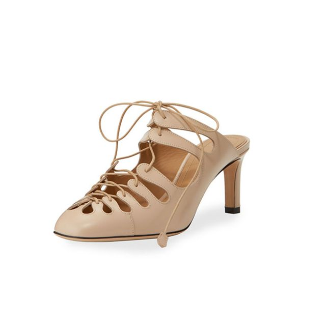 The Row Dixie Patent Lace-Up Mule