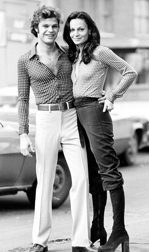Diane von Furstenberg and husband, Austrian prince Egon von Furstenberg in 1970s