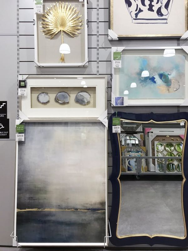 Art, mirrors, objects, and frames come in all shapes and sizes. The store features more large-scale options and pieces from local artists than HomeGoods.
