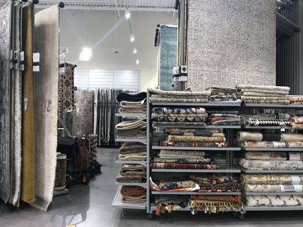 In the back, you'll find a massive rug section big enough to be its own store.