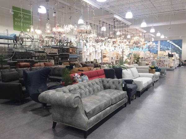 Next to the lighting section, you'll find a massive furniture display (which definitely sets the store apart from HomeGoods). Pieces range from midcentury modern to more traditional.