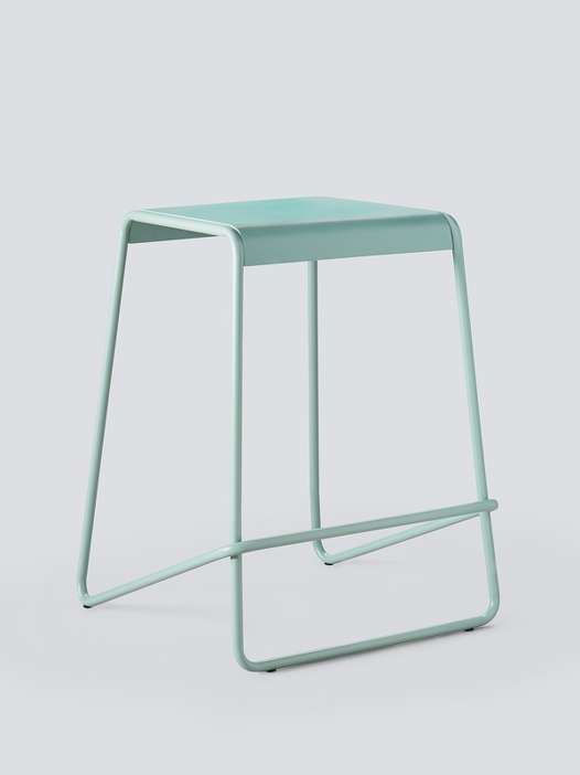 These striking barstools were designed to make a statement (and easily stow out of sight).