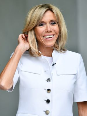 Brigitte Macron Wore the Chicest Jeans and T-Shirt on This New Elle Cover
