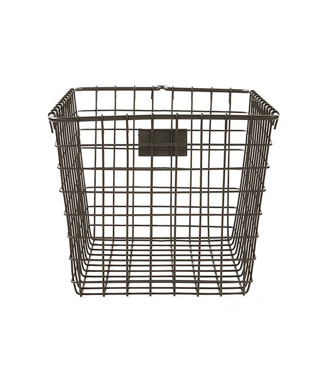 Wire Storage Basket, Small, Industrial Gray