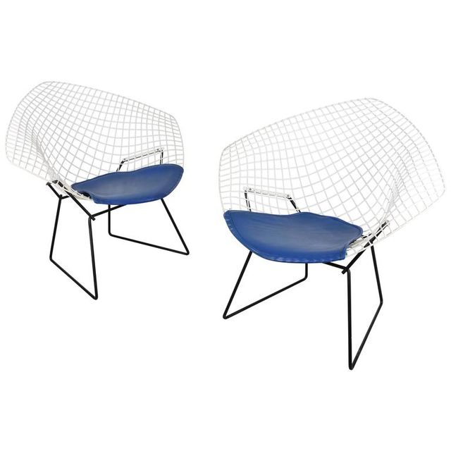 Knoll Bertoia Two-Tone Diamond Lounge Chair