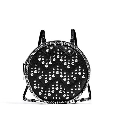 Studded Leather Backpack
