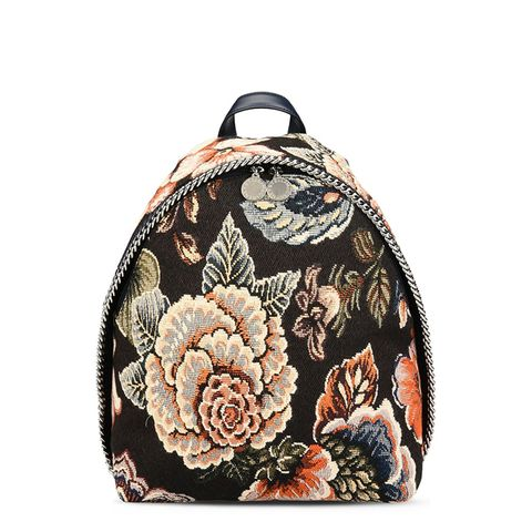 Tapestry and Denim Small Backpack