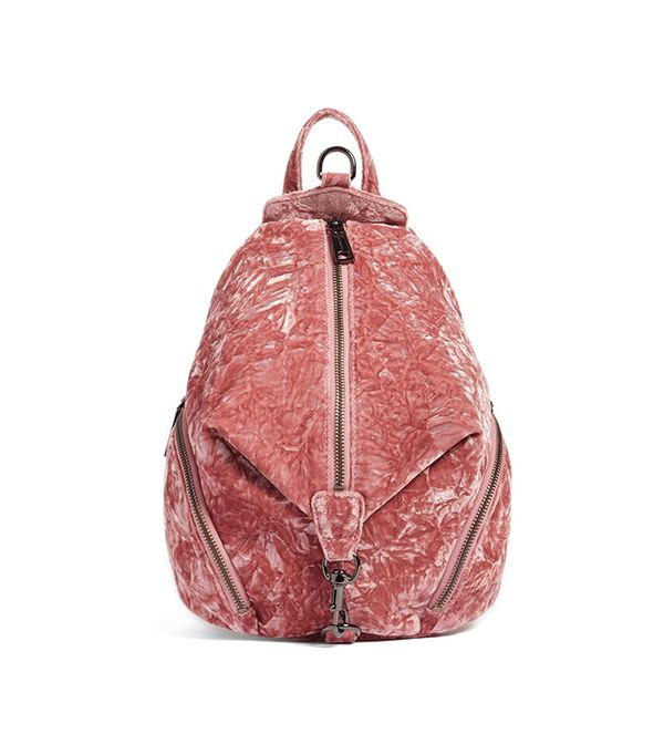 Medium Julian Velvet Backpack -