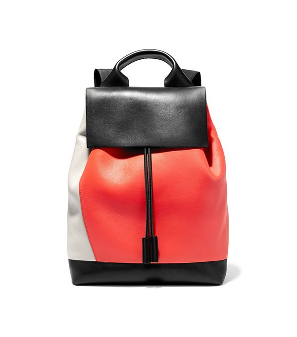 Pod Color-block Leather Backpack