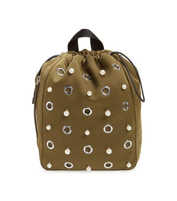 Phillip Lim 3.1 Medium Go-Go Embellished Backpack - Green