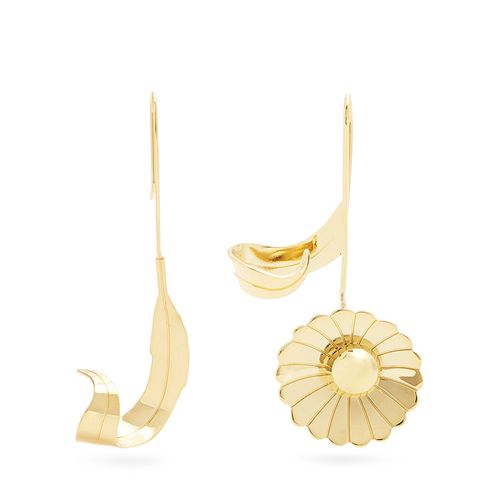 Daisy and Leaf Earrings