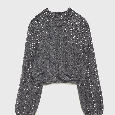 Sweater With Faux Pearls