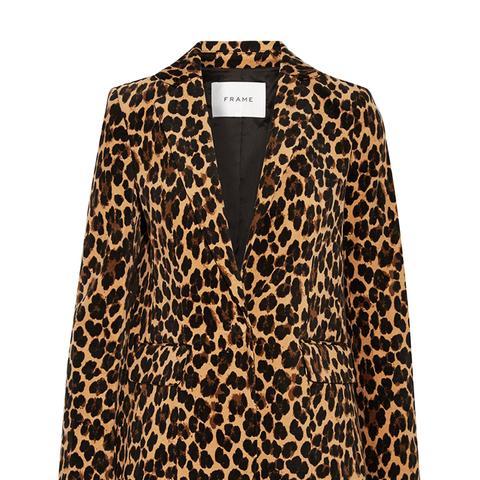 Leopard Velvet Blazer