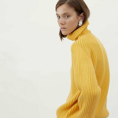 Slouchy Cashmere Polo Neck