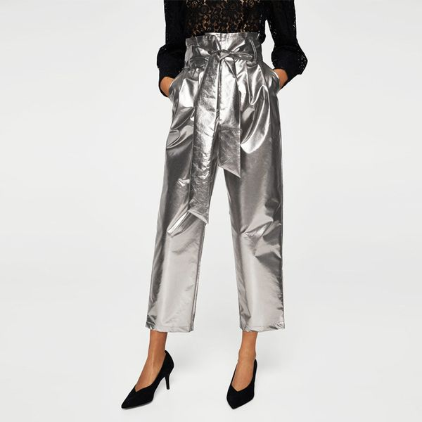 Mango Metallic Trousers