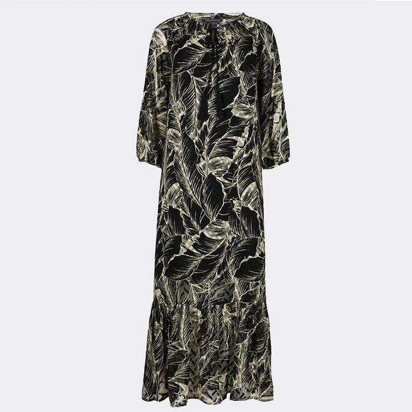 Marks & Spencer Palm Print 3/4 Sleeve Tunic Maxi Dress