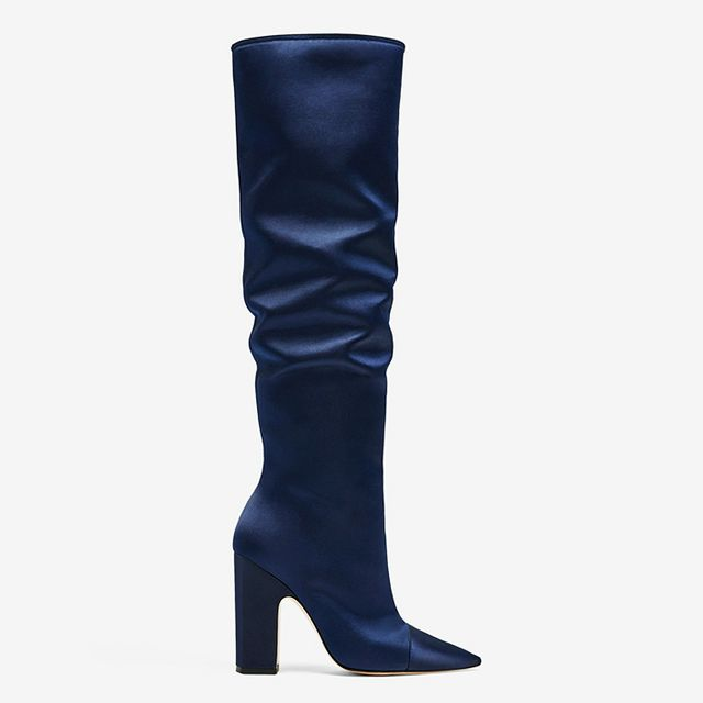 Boot Trends 2017: Zara Sateen Boots