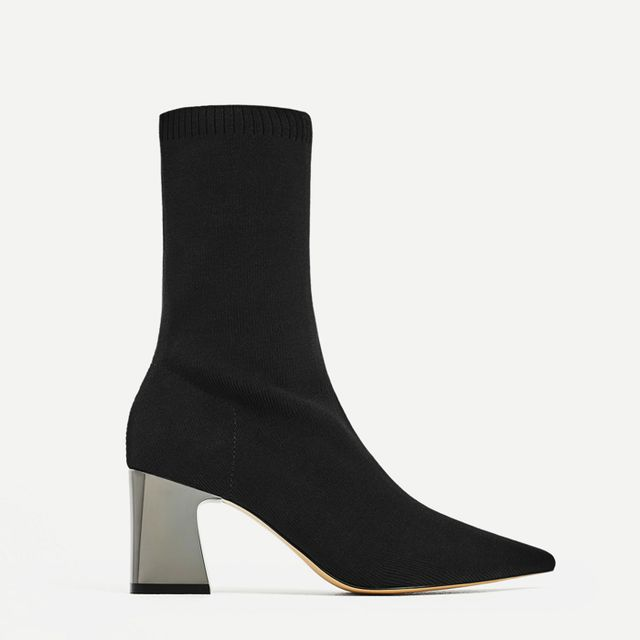 Boot Trends 2017: Zara Stretch Fabric High Heel Boots
