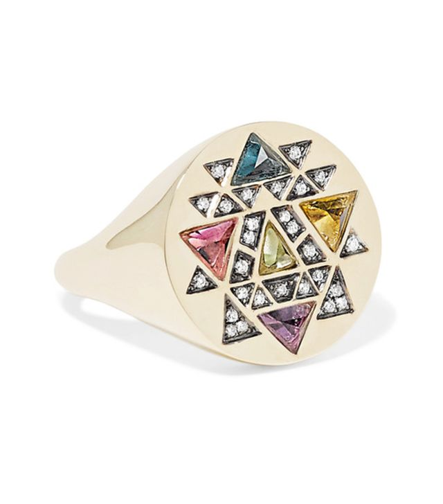 Crystal jewellery trend: Noor Fares ring