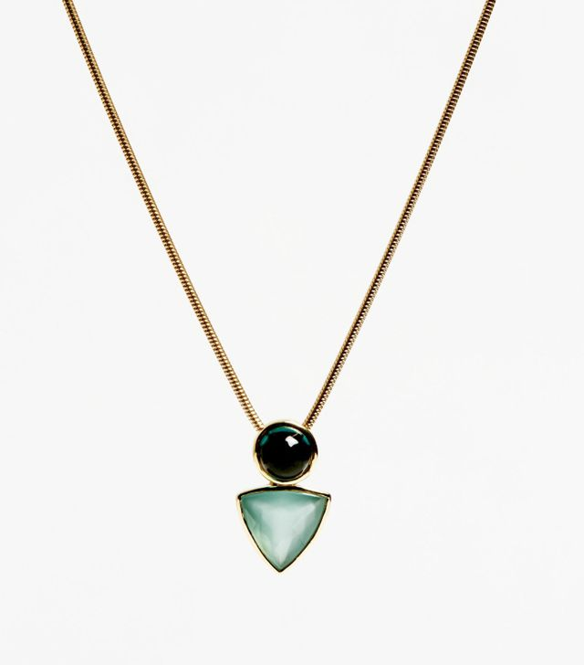 Abbey Moseri Power Pendant in Tourmaline and Aquamarine and 18K Gold Unique Piece