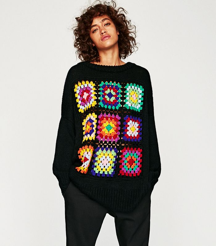 Crochet jumper trend: Zara Oversized Crochet Jumper