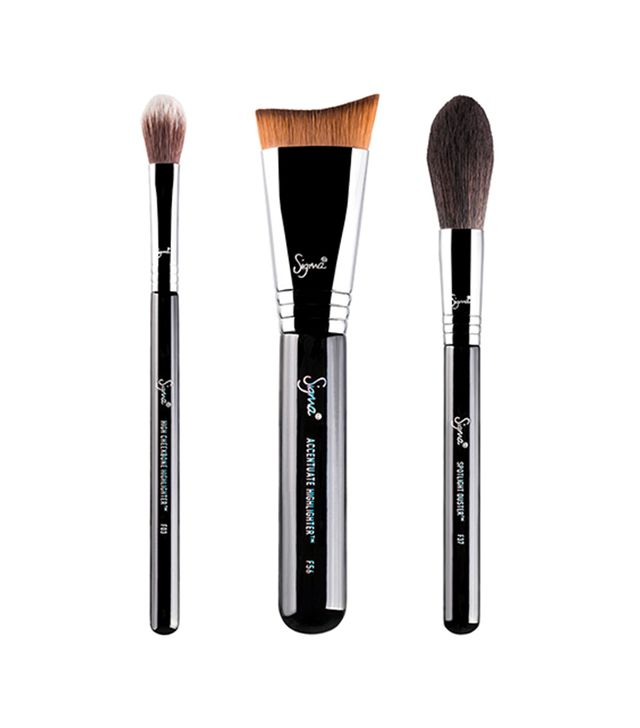 eye makeup brush set. sigma beauty highlight expert brush set eye makeup
