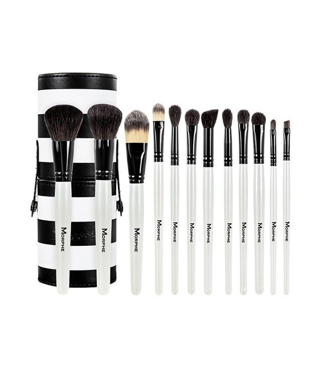best eyeshadow brushes morphe. morphe 12 piece black and white travel set best eyeshadow brushes