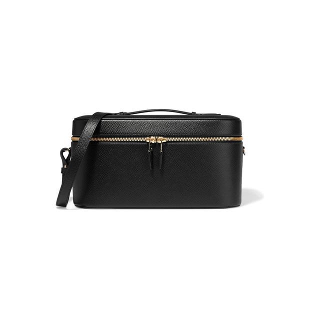 Smythson Panama textured-leather vanity case