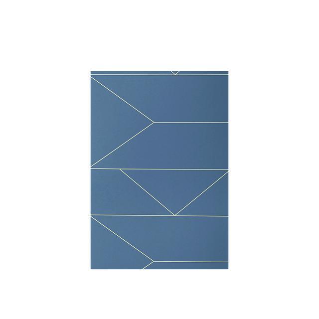 Royal Design Dark Blue Lines Wallpaper