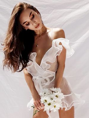 You'll Love This Blogger's Half-Naked Wedding Dress