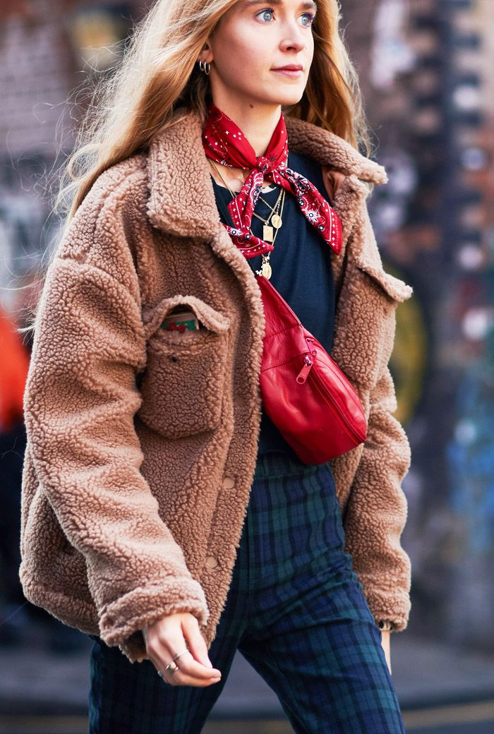 Best shearling coats: street style