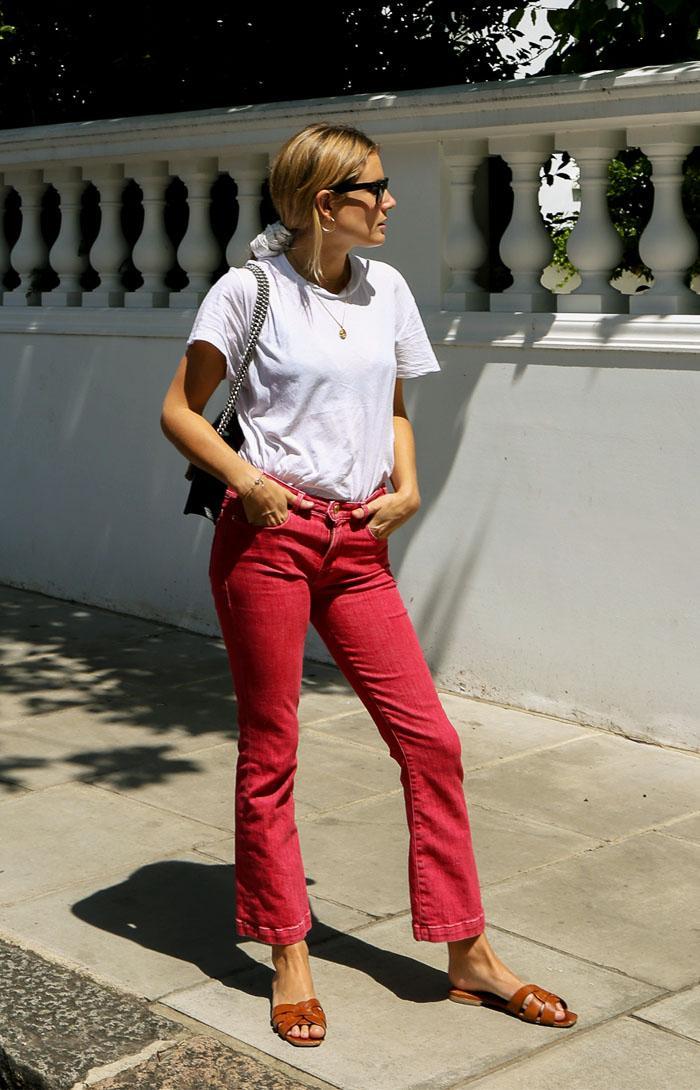 Denim trenda Autumn Winter 2017: red jeans