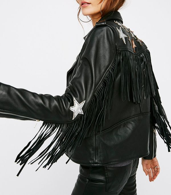 Metallic Night Jacket by Understated Leather at Free People