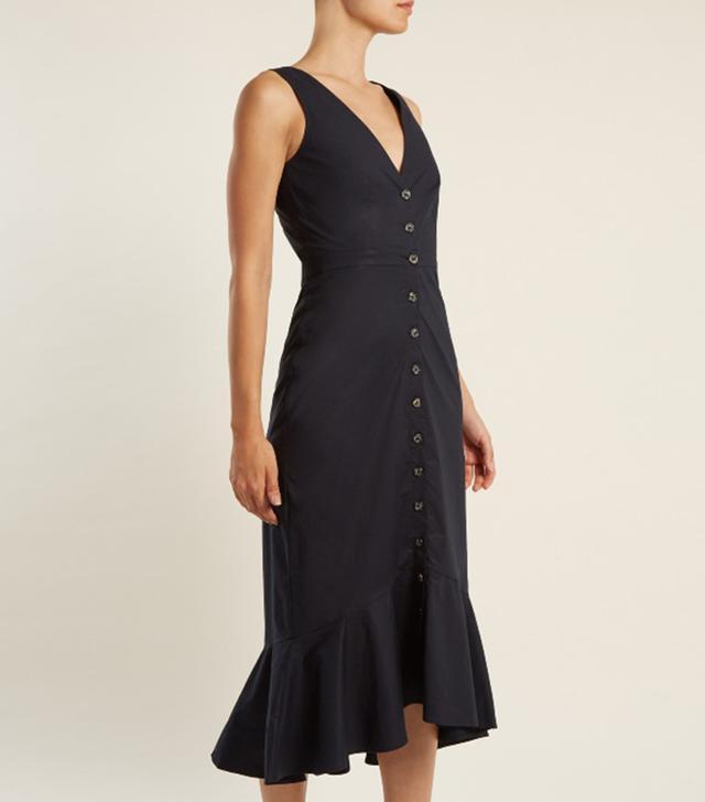 Zoey stretch-cotton dress
