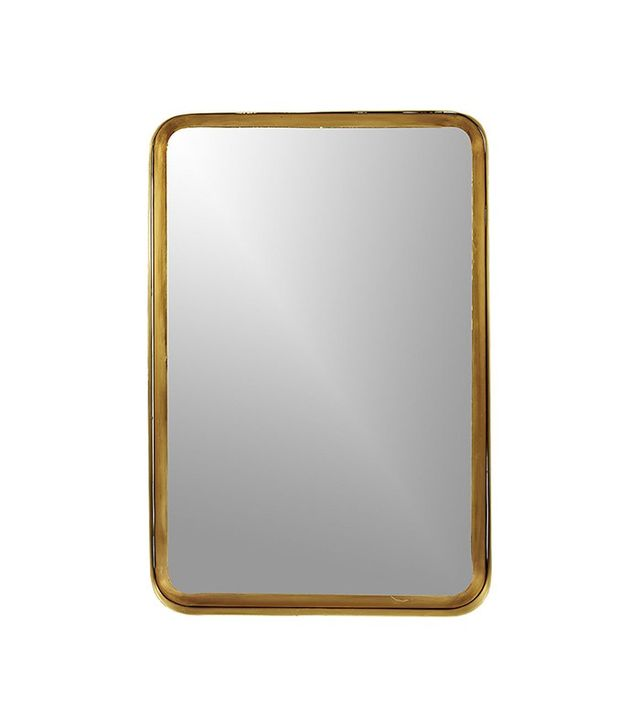 CB2 Croft Brass Mirror
