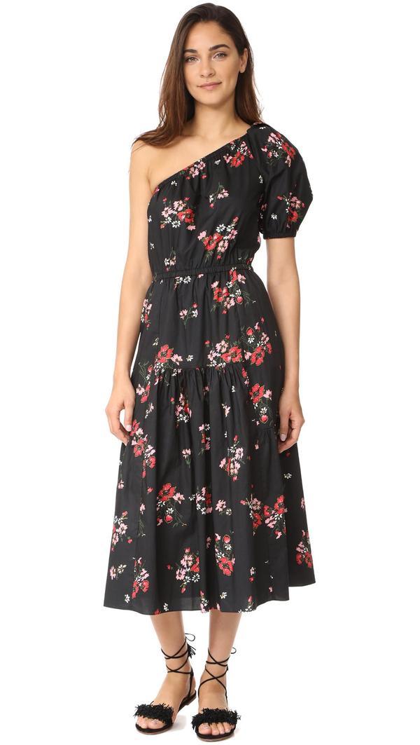 One Shoulder Marguerite Pop Dress