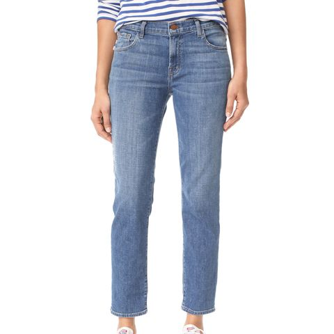 Johnny Mid-Rise Boy-Fit Jeans