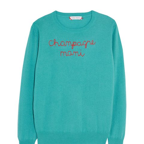 Champagne Mami Embroidered Cashmere Sweater