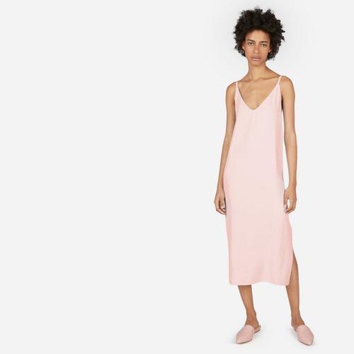 Women's Japanese GoWeave Long Slip Dress by Everlane in Rose, Size 0