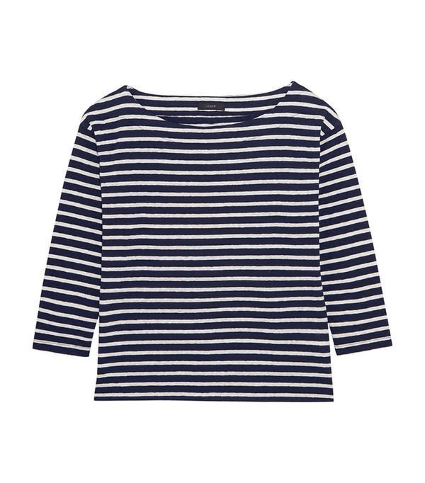Striped Slub Cotton-blend Jersey Top