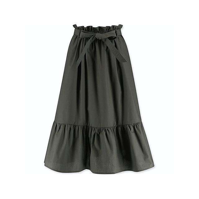 UNIQLO High Waist Ribbon Frill Skirt