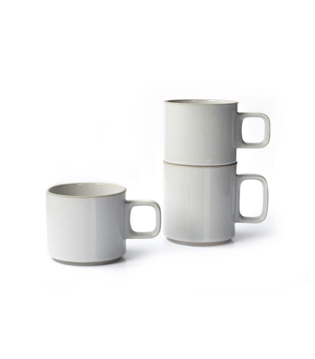 Hasami Gloss Grey Japanese Porcelain Mugs