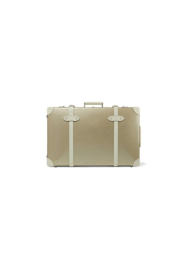 Globe-Trotter Champagne 30'' leather-trimmed fiberboard travel trolley
