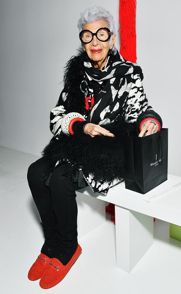 WHO: Iris Apfel WHAT:Calvin Klein S/S 18Show